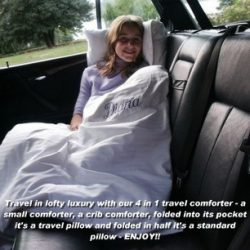 travel blanket pillow