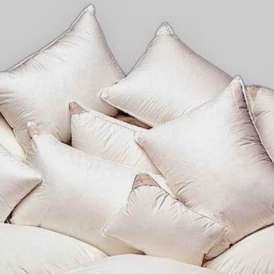 goose down pillows in batiste shell