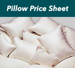 Pillow Price Sheet